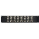 Switchcraft E Series 16-Point USB-B Front to USB-A Rear Feed-Thru Barrel Patch Panel - 2RU