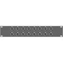 16 Point Neutrik NE8FDP RJ45 CAT5e Feedthru Panel