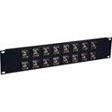 Laird 16XUHD-BNCR 4K/8K 12G-SDI Feed Through BNC Patch Panel - 16 Point x 2RU