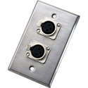 Neutrik 203F Dual Wallplate with Two NC3FD-L-1 Receptacles