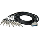 Sescom 25MA-TRS-C05 Built Canare Analog 25Pin DSub Male to 8 TRS Male Audio Cable with 18 inch Fanouts - 5 Foot