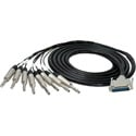 Sescom Built Mogami 8 Channel Analog 25Pin DSub Male to 8 TRS Male Audio Cable with 18 inch Fanouts- 5 Foot