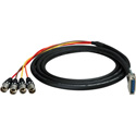 Sescom Built Gepco Digital 25Pin DSub Male to 4 XLR Male Audio Cable with 24 inch Fanouts - Yamaha -  5 Foot