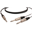 Audiophile Single Pair 1/4-TS Insert Return/Send Cables 6 Foot