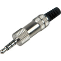 3.5mm TRRS 4 Conductor All Metal Audio & Video Plug