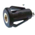 2.5mm 3-Conductor TRS Chassis Mount Snap-in Jack