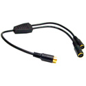 Calrad 35-497A S-Video 1 Male to 2 Female Y-Cable