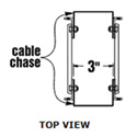 Middle Atlantic 5CC21-26 Cable Chase Kit for 5-21-26