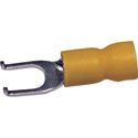 NTE 76-IFST22-08L Pvc Insulated Flange Spade Terminal 22-18Awg #8 Stud Tin Plated Copper 50/Pkg
