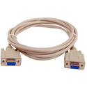 DB-9 Serial Female to Female Molded Null Modem Cable - Beige - 6 Foot