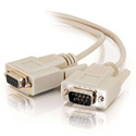 DB-9 Serial Male - Female Molded Cable 3ft Beige