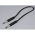 Audio Accessories 621B Maxi (Bantam/TT) Woven Patch Cord Black