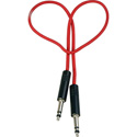 Audio Accessories 622A Maxi (Bantam/TT) Woven Patch Cord Red