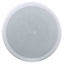 QSC AC-C8T-WH 8 Inch Two-way Ceiling Speaker 70/100V Transformer with C-ring and Rails - White EACH