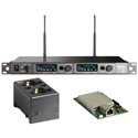 MIPRO ACT-828 DANTE-5E-KIT Dante Dual Channel Dante Enabled Rack Mount Receiver w/ Charging Station 480-544 MHz - Li-Ion