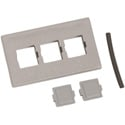 ADC-Commscope M13C-270 3 Port Furniture Faceplate Type M13C - Gray
