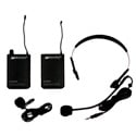 Amplivox S1601 Lapel Microphone Pack with Headset Mic Transmitter & Receiver