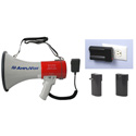 AmpliVox SB602MR Mity-Meg 25 Watt Megaphone with Detachable Mic and Rechargeable Lithium Ion Battery Bundle