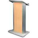 Amplivox SN3110 Hardrock Maple Contemporary Lectern with Flat Front Design