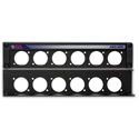 RDL AMS-HR6 Mounting Panel for 6 AMS Accessories