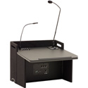 Anchor Acclaim Tabletop Lectern with Built-In Dual Wireless Mic Receiver
