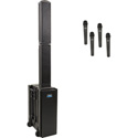 Beacon BEA-QUAD -HHHH Quad Package with BEA2-XU4 and 4 WH-LINK Wireless Handheld Mics