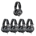 Audio-Technica ATH-PACK5 Professional Headphones Studio Pack - (1) ATH-M50x and (4) ATH-M20x
