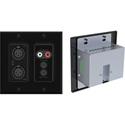 Attero Tech UND6IO-B-C 4x2 Channel 2 Gang US Wallplate with XLR RCA 3.5mm I/O PoE - SymNet Control Compatible - Black