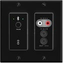 Attero Tech UND6IO-BT-B-C 4x2 Channel 2-Gang US Wall Plate with Bluetooth/RCA/3.5mm I/O/PoE/Symetrix Control - Black