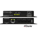 Attero Tech UNDIO2X2-C Dante Networked Audio Interface - 2x2 Mic/Line I/O