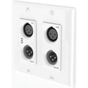 Attero Tech UNDX2IOplus 4x2 Channel 2 Gang US Wall Plate with XLR Phoenix I/O PoE