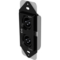 Attero Tech unXP2O 1-Gang Passive Wall Plate with 2 male XLRs & 3-gang Decora Plate - White & Black Inserts