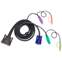 ATEN 2L1701P 6ft PS2 Legacy KVM cable w/ Audio - DB25 to VGA PS2 and Audio
