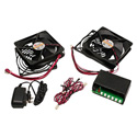 ATM 00-202-02 System 2plus2 Kit - with 4 Fans 4 Finger Guards Power Supply and Thermal Sensor