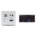 Atlona 4K-HDVS-WP-EXT 4K/UHD HDBaseT TX/RX with Two-Input Wall Plate Switcher Ethernet Control and PoE
