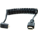 Atomos ATOMCAB007 Coiled Right-angle Micro HDMI to Full HDMI Cable (30-45cm)