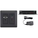 Aurora DXW-2-S1-B-4K 2 Input HDBaseT Wall Plate VGA & HDMI - CAT Extender up to 230 Feet / 4K UHD - Black