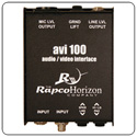 Rapco AVI-100 Audio-Video Interface & Level Matching Transformer