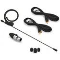 Avlex HSP-49BK Omni-Directional Miniature Condenser Single-Ear Headset Microphone - Premium Element & Mini-XLR - Black
