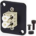 AVP UMF-MMD-LC-BG Maxxum LC Multimode Duplex Fiber Optic Panel Mount Feedthru Beige Adapter Plate(s)