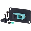 AVP UMF-MMD-SC-AQ Maxxum SC Multimode Duplex Fiber Optic Dual D Panel Mount Feedthru Aqua Adapter Plate(s)