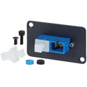 AVP UMF-SMD-SC-BL Maxxum SC Singlemode Duplex Fiber Panel Mnt Feedthru Blue Adapter Plate and/or Hardware MIS Color-Code