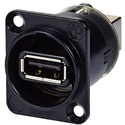 AVP UMNAUSB-W-B Maxxum Reversible USB Gender Changer Black Chassis Adapter Plate(s) and/or Hardware MIS Color-Code