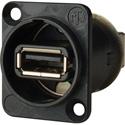 AVP USB-AB Type A Front Type B On Rear F to F Adaptor Plate Hardware
