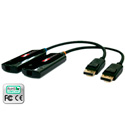 Avenview FO-DP-300-EMI Up to 1000 Meter DisplayPort Extender Over Fiber - Single SC Fiber Optic Cable