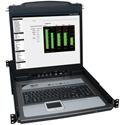 Tripp Lite B020-U08-19KTAA 8-Port Rack Console KVM Switch 19 Inch LCD PS2/USB Cable 1U TAA GSA