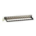 Black Box C6AFP70S-24 24-Port 1U CAT6A Staggered Feed-Through Patch Panel Shielded
