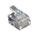 Black Box FMTP411-10PAK RJ11 Unshielded Modular Plug 4-Wire - 10-Pack