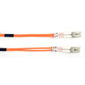 Black Box FO625-001M-LCLC 1M Duplex Fiber Patch Cable Multimode 62.5 Mic OM1 OFNR LC-LC OR