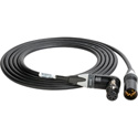 Laird BD-PWR5-01 RA 4-Pin XLRF to 4-Pin XLRM Power Extension Cable for Blackmagic Studio Cameras - 1 Foot
